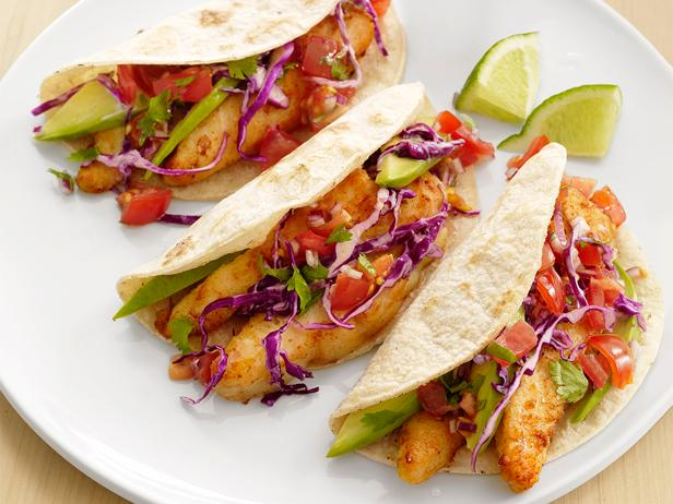 baja fish tacos recipe food network kitchen food network