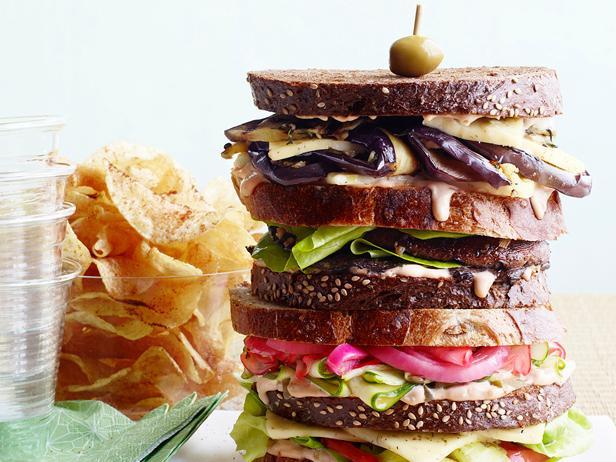 Veggie Dagwood Sandwiches image