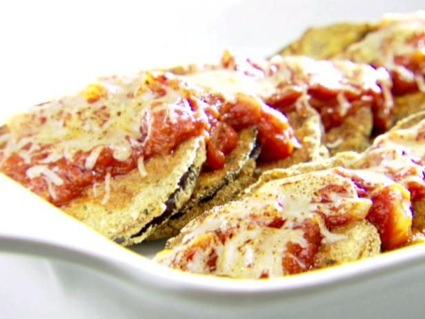 Crispy eggplant parmesan recipe sandra lee food network crispy eggplant parmesan forumfinder Image collections