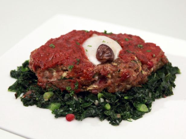 Turk-Eye Meatloaves with Bloody Sauce