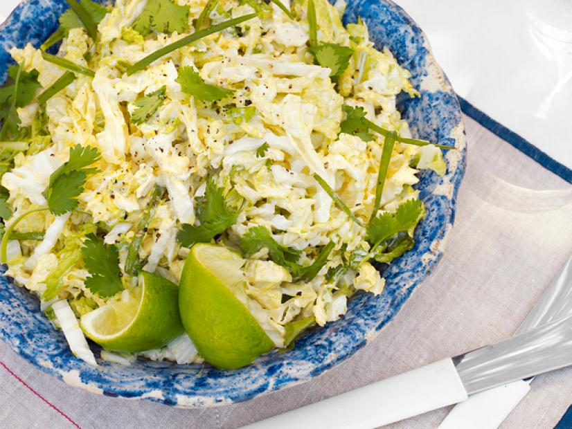 Savoy Lime And Cilantro Coleslaw Recipe Tyler Florence Food Network