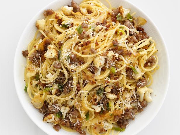 Sausage cauliflower spaghetti recipe food network kitchen food sausage cauliflower spaghetti forumfinder Choice Image