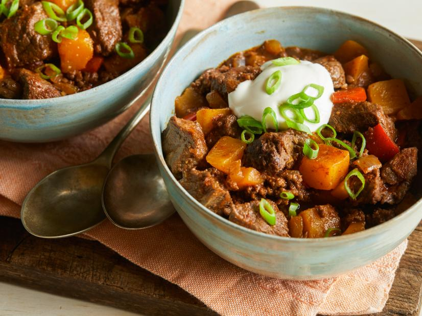 Beefy Butternut Squash Chili Recipe Sunny Anderson Food Network
