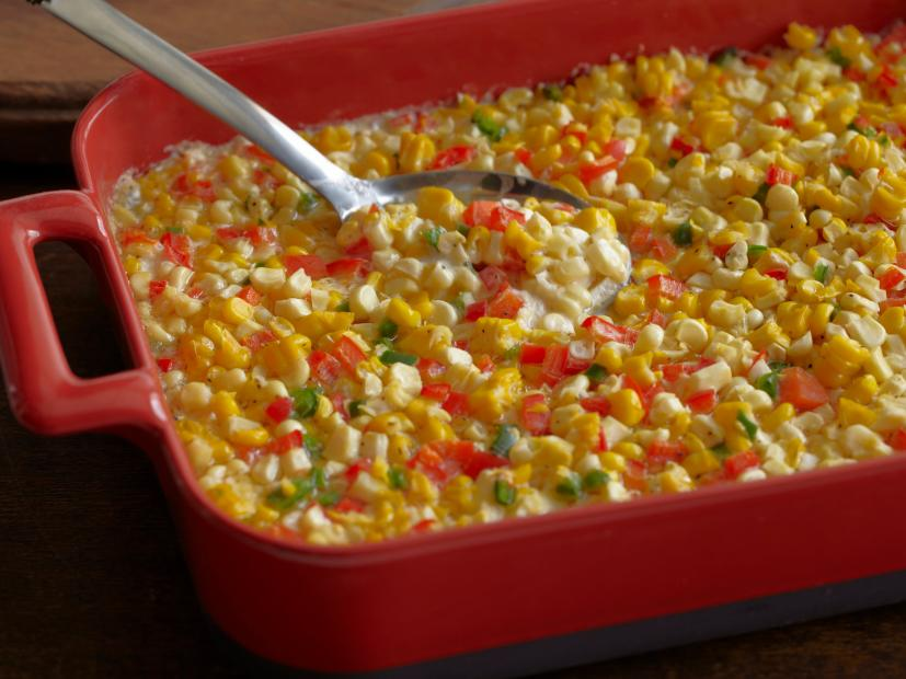 Fresh Corn Casserole With Red Bell Peppers And Jalapenos Recipe Ree Drummond Food Network