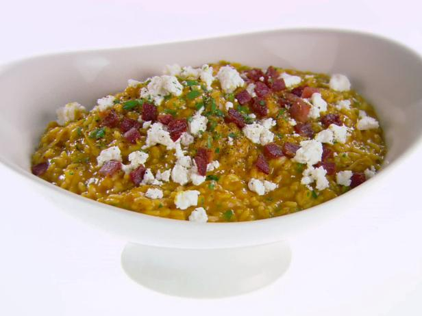 Pumpkin and Goat Cheese Risotto
