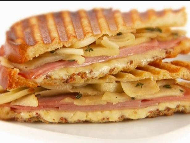 Ham, Gruyere and Apple Panini