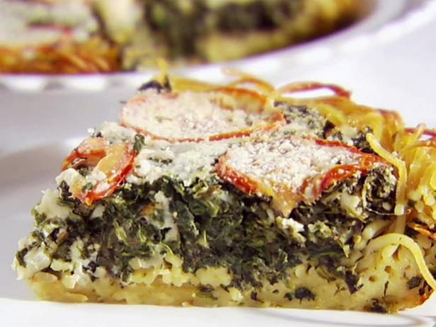 Spinach and Pasta Pie