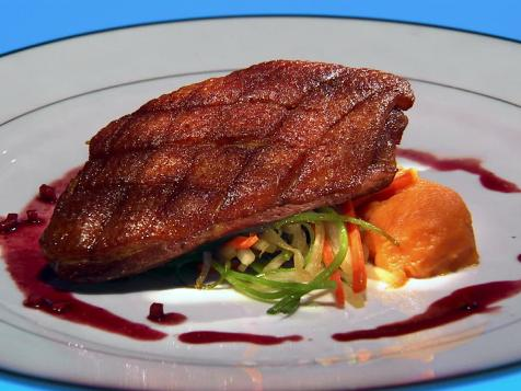 Duck Breast with Apple-Pomegranate Sauce
