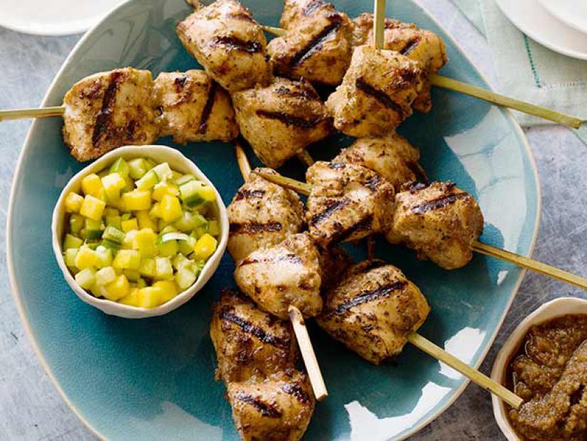Jerked chicken kabobs recipe guy fieri food network watch forumfinder Image collections