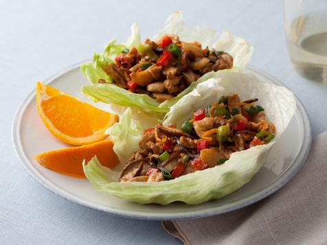 Barbecued Chinese Chicken Lettuce Wraps