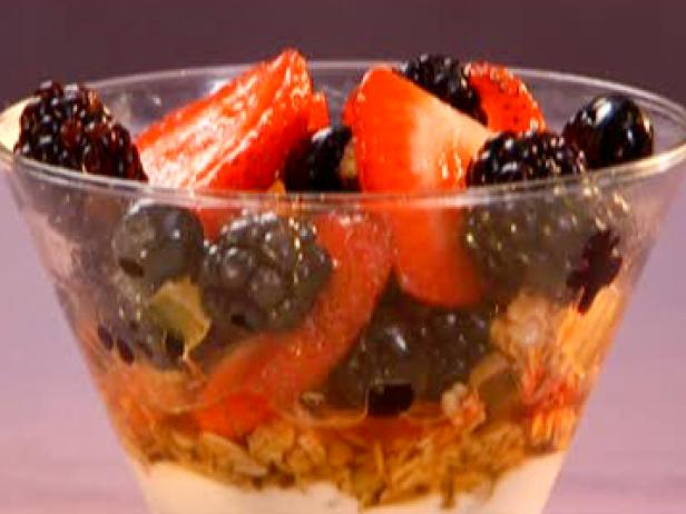 Gingery Fruit Salad Parfait