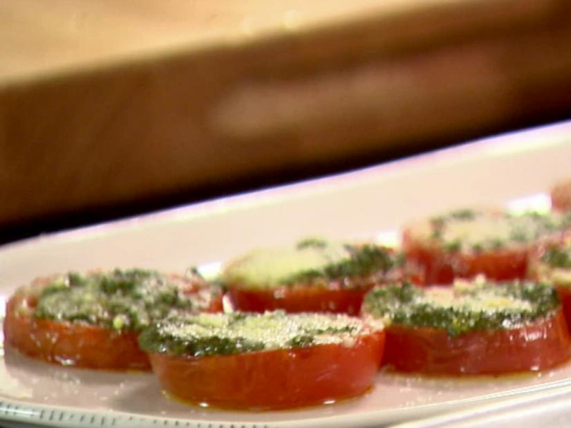 Tomatoes roasted with pesto recipe ina garten food network watch forumfinder Gallery