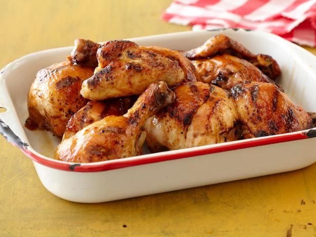 Honey orange bbq chicken recipe the neelys food network honey orange bbq chicken forumfinder