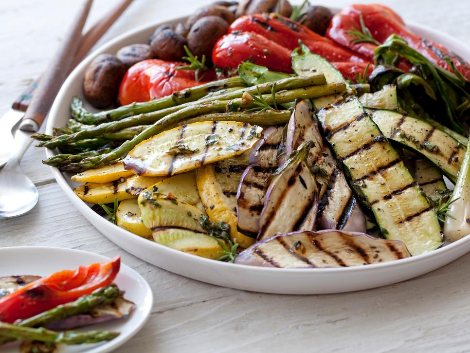 Grilled vegetarian dishes food network grilling and summer cold soba noodle salad with creamy sesame dressing forumfinder