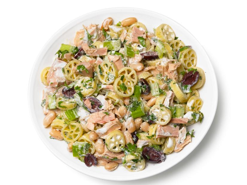 Pasta Salad With Tuna Celery White Beans And Olives Recipe Food Network Kitchen Food Network