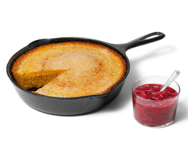 Skillet Cornbread With Strawberry Jam