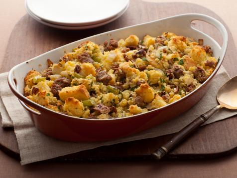 Cornbread Stuffing with Apples and Sausage
