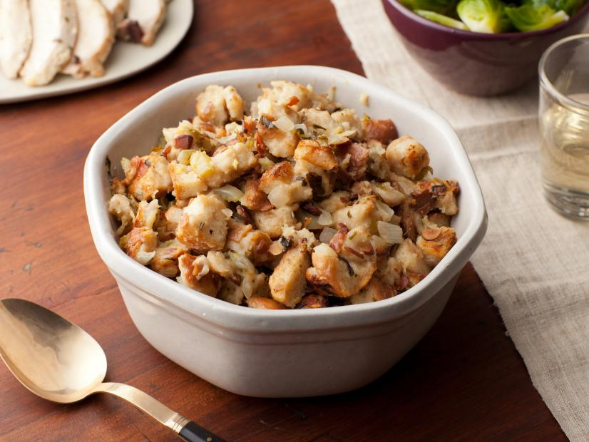 Herb And Apple Stuffing Recipe Ina Garten Food Network,Brown Blue Gray Color Scheme