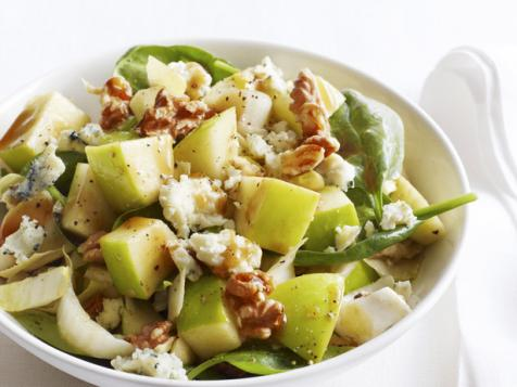 Chopped Apple Salad With Toasted Walnuts, Blue Cheese and Pomegranate Vinaigrette