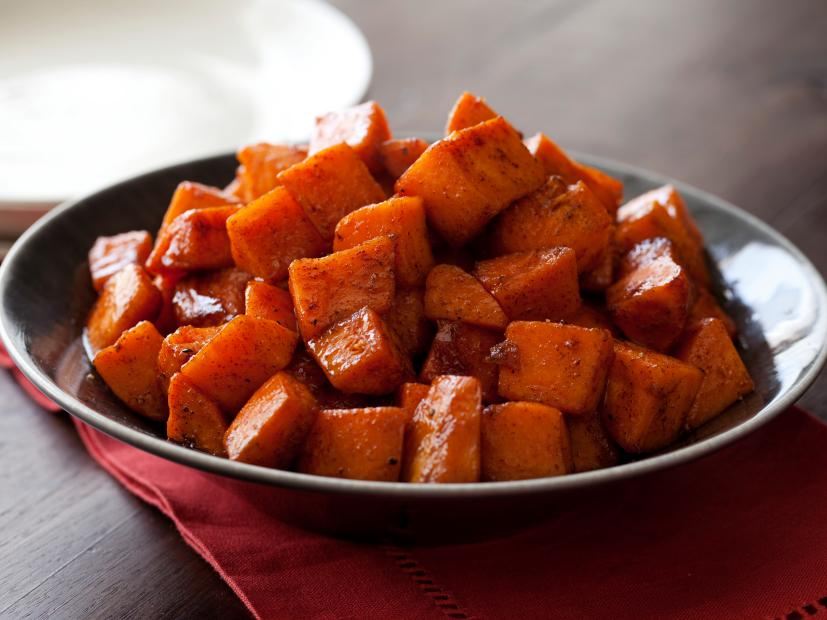 Roasted Sweet Potatoes With Honey And Cinnamon Recipe Tyler Florence Food Network