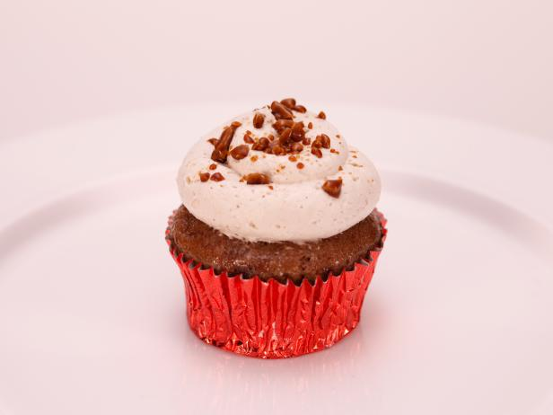 Rolling Stones Brown Sugar Cupcake with Coconut Custard Filling, Spiced Rum Frosting and Cracked Brown Sugar Brittle