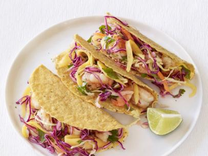 Food Network Shrimp Tacos With Mango Slaw