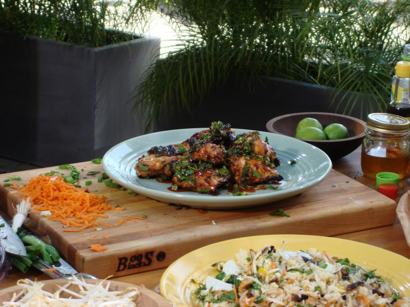 Korean Grilled Chicken Recipe Bobby Flay Food Network