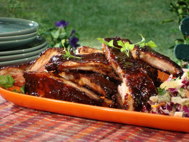Spice Rubbed Ribs with Chipotle-Honey Glaze