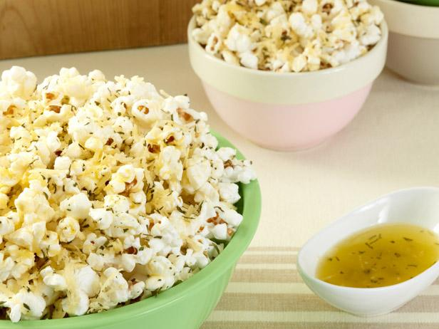Popcorn with Herbs de Provence and Asiago Cheees