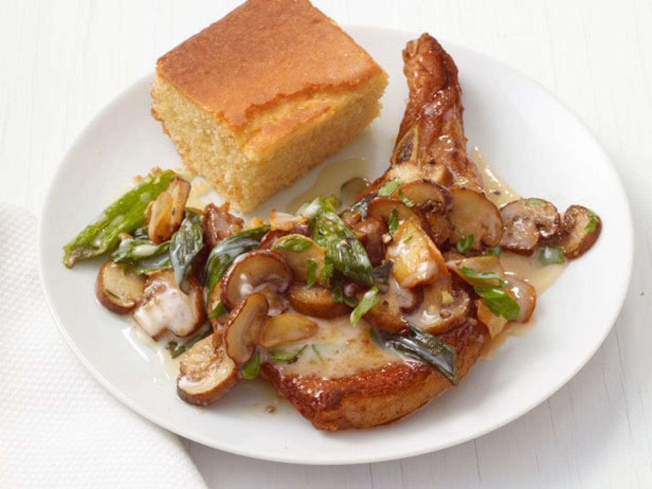 Image result for Mushrooms pork chops