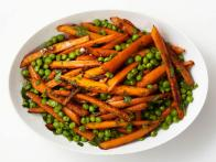 Roasted Carrots and Peas