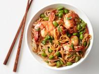 Asian Noodles with Shrimp and Edamame