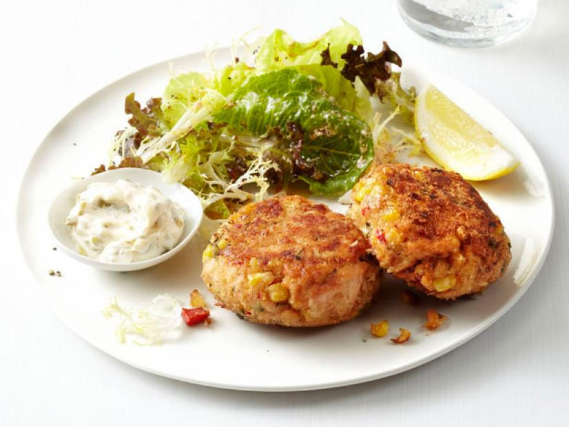 Salmon cakes with salad recipe food network kitchen food network forumfinder Gallery