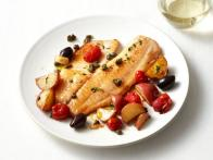 Baked Tilapia With Tomatoes and Potatoes