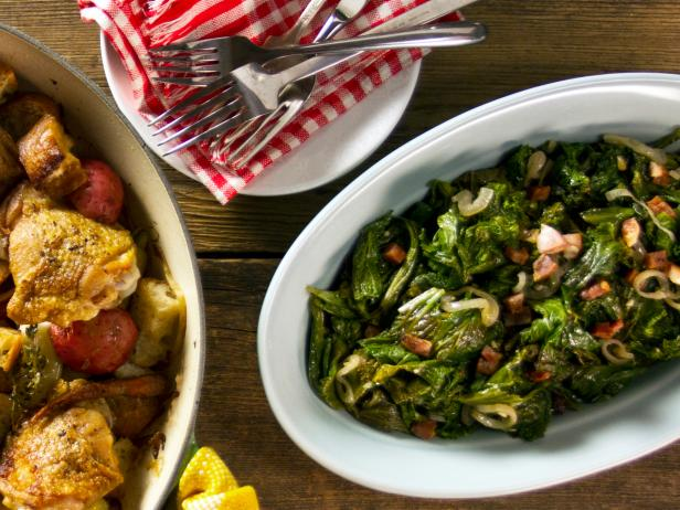 Sauteed Mustard Greens with Pancetta