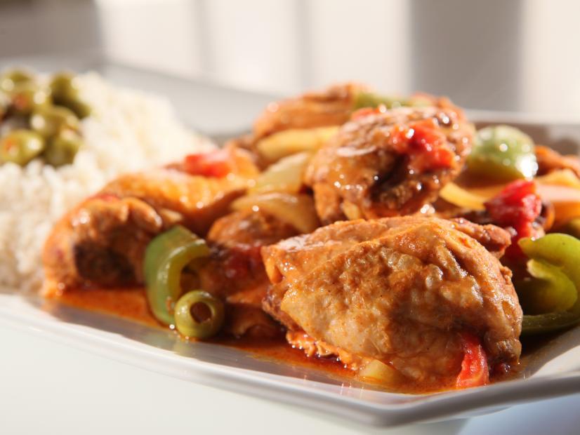 Spanish Chicken With Spicy Lemon Rice Recipe Sandra Lee Food Network