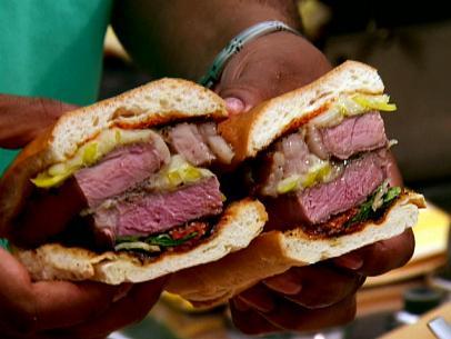 Grilled Rib-Eye Steak Sandwich