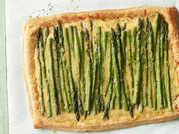 Asparagus and cheese tart recipe food network kitchen food network asparagus and cheese tart forumfinder