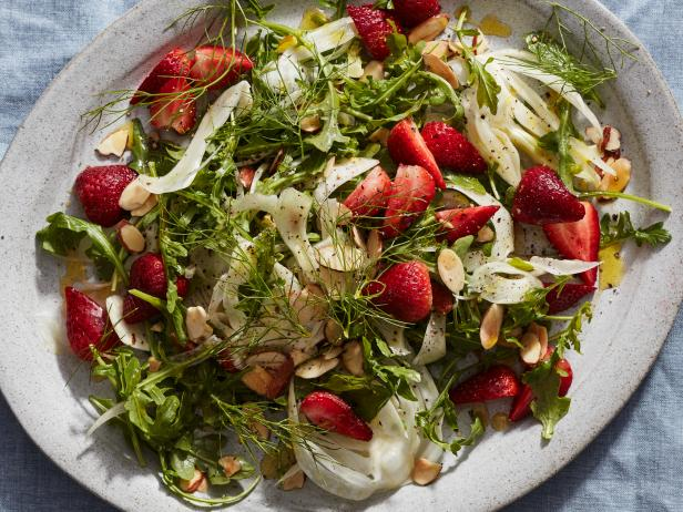 Fennel, Arugula and Strawberry Salad
