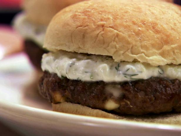 Grilled Lamb and Feta Burgers