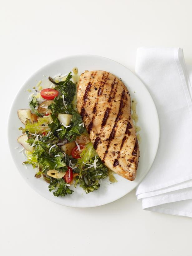 Grilled Chicken With Roasted Kale Recipe Food Network Kitchen