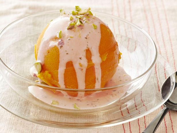 Sorbet With Coconut Sauce