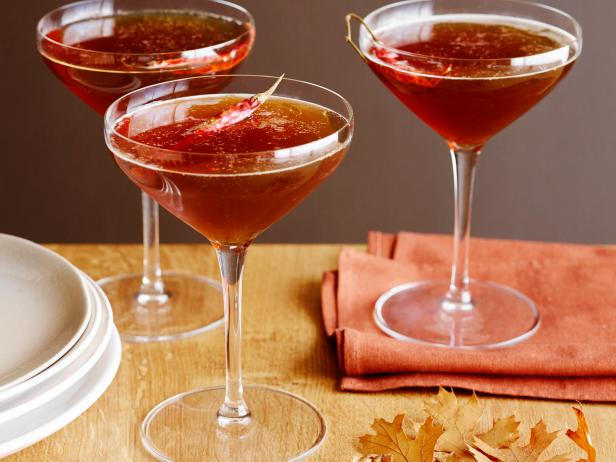 Spiced Bourbon, Beer and Maple Martinis