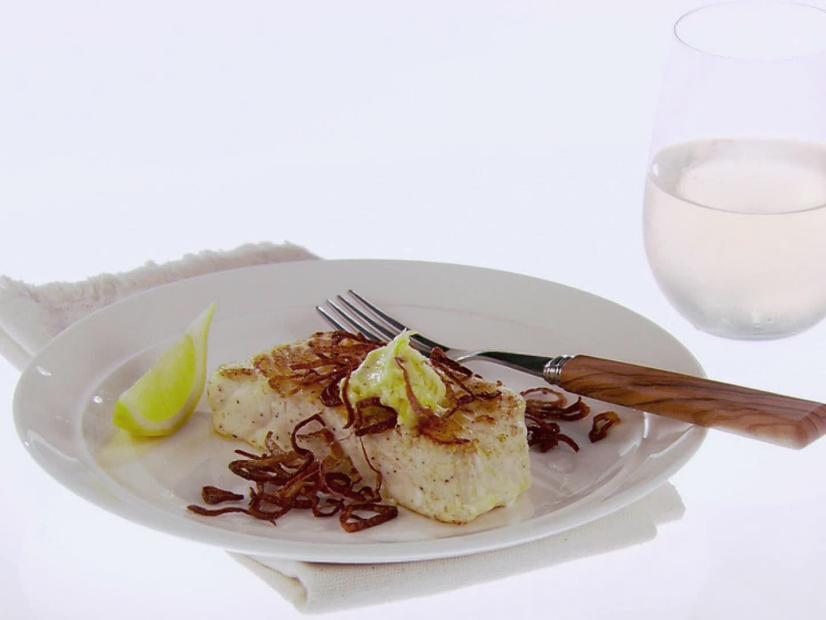 Halibut With Lemon Butter And Crispy Shallots Recipe Giada De