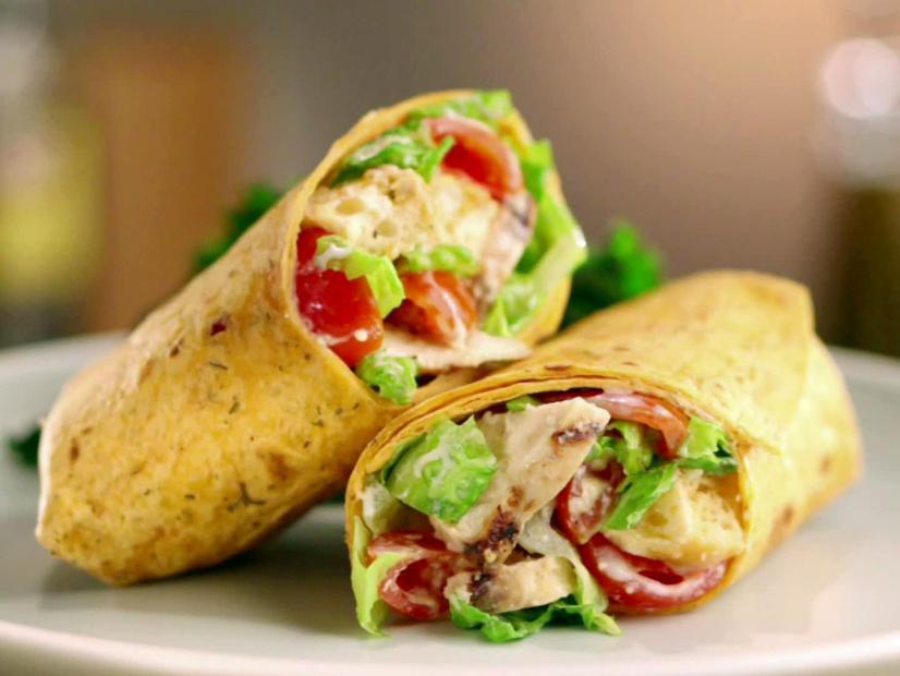 Grilled Chicken Caesar Wrap Recipe Jeff Mauro Food Network