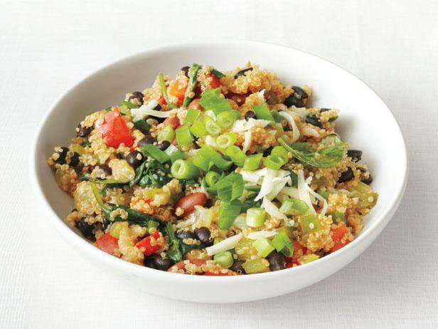 Quinoa recipes food network food network quinoa and bean pilaf forumfinder Images