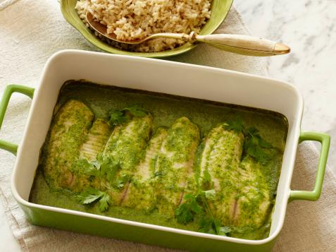 Baked Tilapia With Coconut-Cilantro Sauce