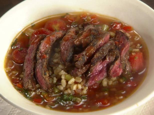 Mexican Sliced Steak and Barley Soup