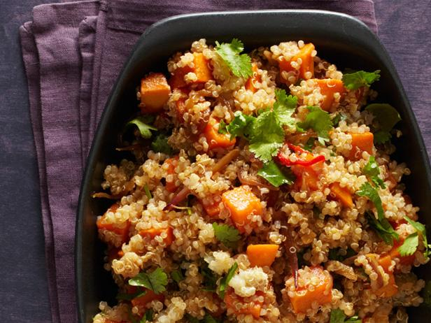 Spicy quinoa with sweet potatoes recipe food network kitchen spicy quinoa with sweet potatoes forumfinder Images