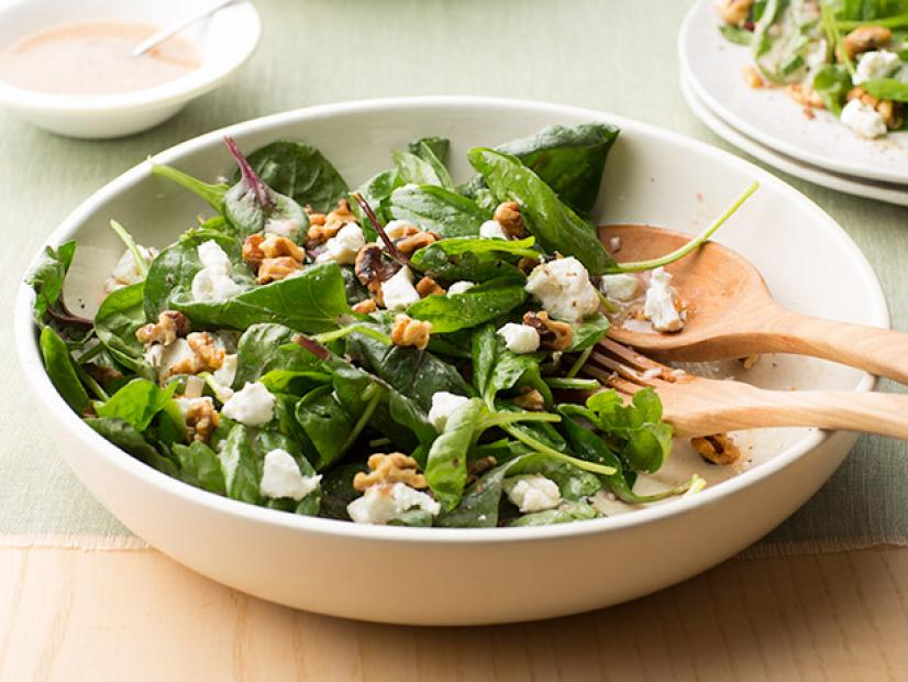 Spinach Salad With Goat Cheese And Walnuts Recipe Food Network Kitchen Food Network
